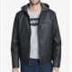Levi's Faux Leather Hooded Jacket