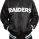 Nfl Raiders Leathers Jacket