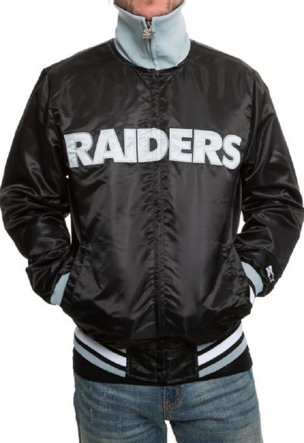 Nfl Raiders Leathers Jacket