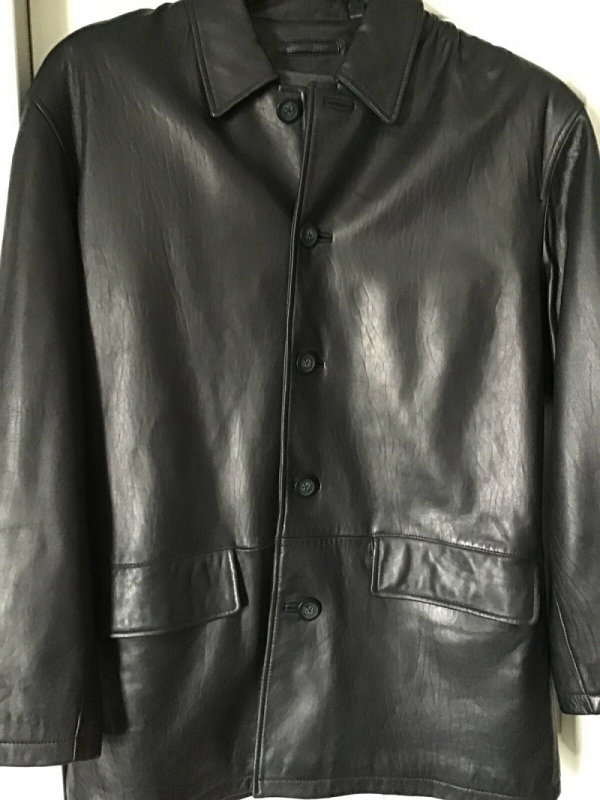Roundtree And Yorke Leather Jacket Black