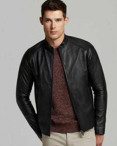 Theory Leather Jacket Mens