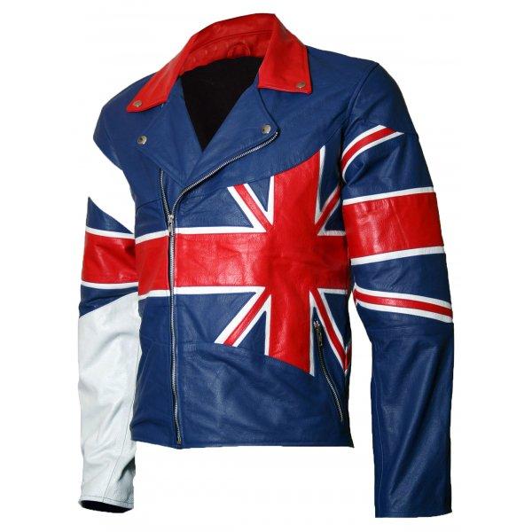 Union Jack Leather Jacket