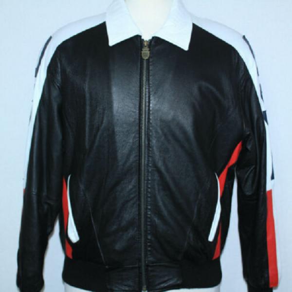 Usa Flag Leather Jacket