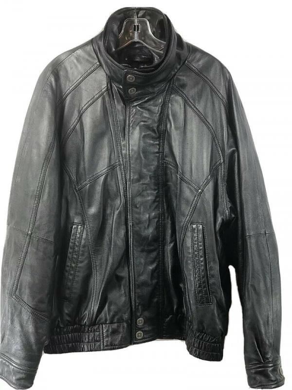 Wilson Black Rivet Leather Jacket