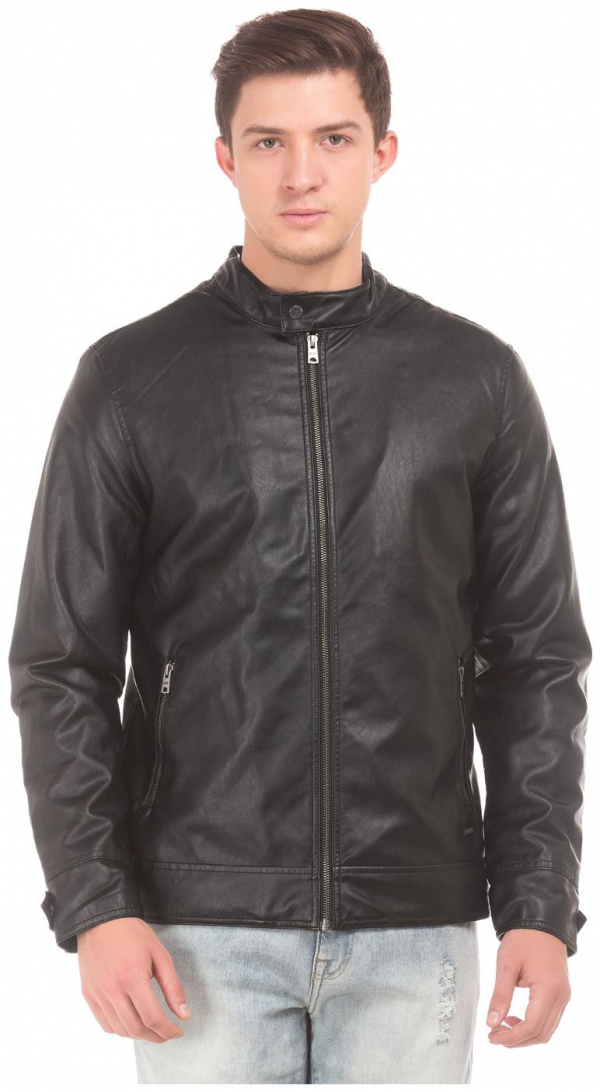 Aeropostale Black Leather Jacket