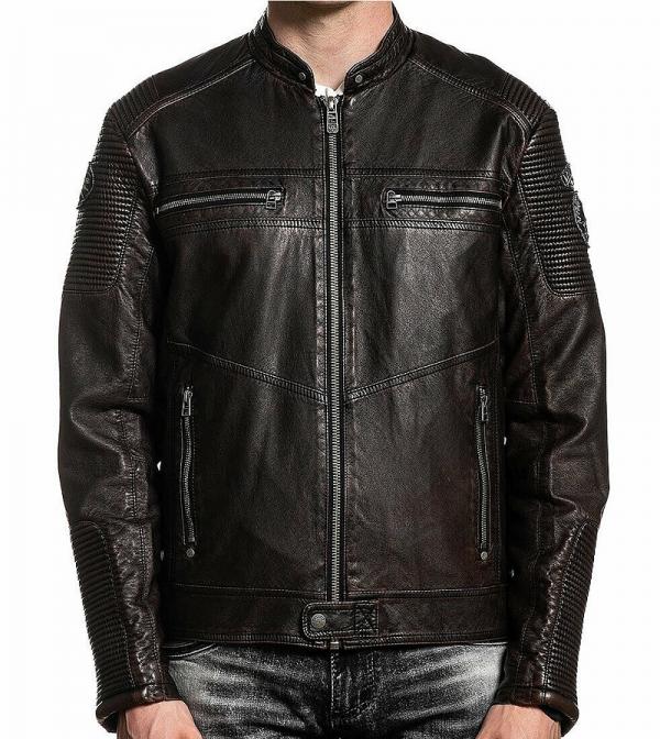 Affliction Black Premium Leather Jacket