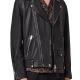 All Saints Grey Leather Jacket
