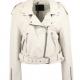All Saints White Leather Jacket