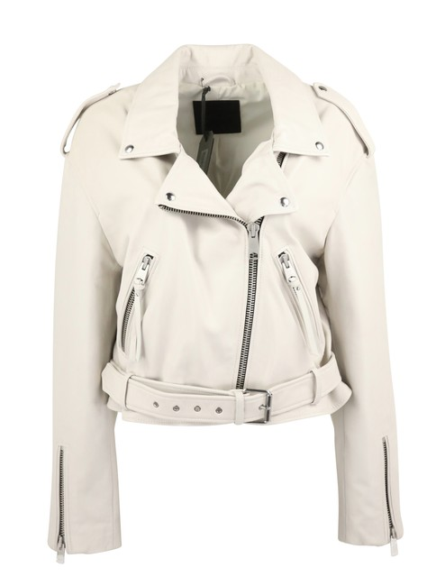 All Saints White Leather Jacket