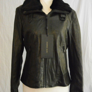 Andrew Marc Leather Jacket With Fur