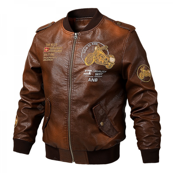 Cargo Leather Jacket