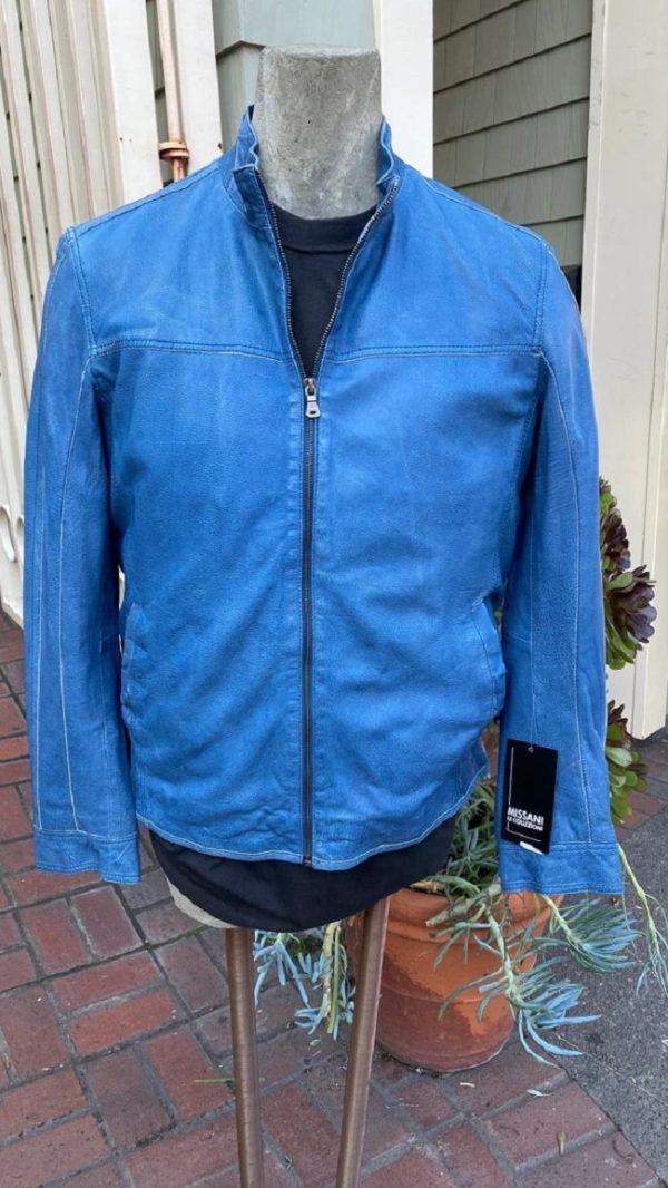 Carolina Blue Leather Jacket