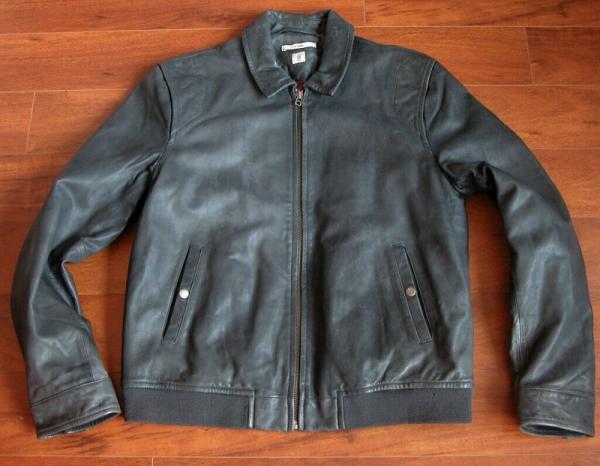 Charcoal Leather Jacket