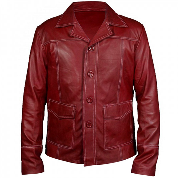 Club Red Leather Jacket