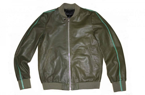 Diesel Green Leather Jackets