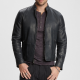 Faded Black Leather Jacket