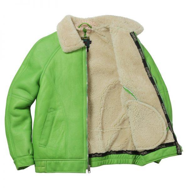 Green Supreme Leather Jacket