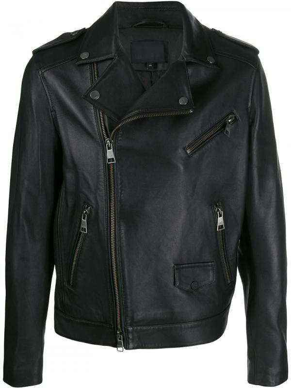 Karl Lagerfeld Mens Leather Jacket