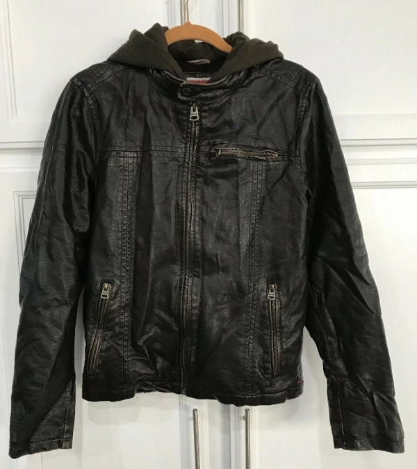 Levis Hooded Leather Jacket