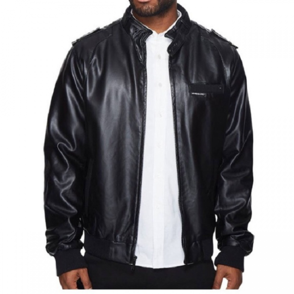 Members Only Black Leather Jacket