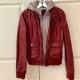 Obey Red Leather Jacket