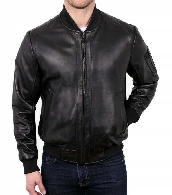 Polo Ralph Lauren Black Leather Jacket