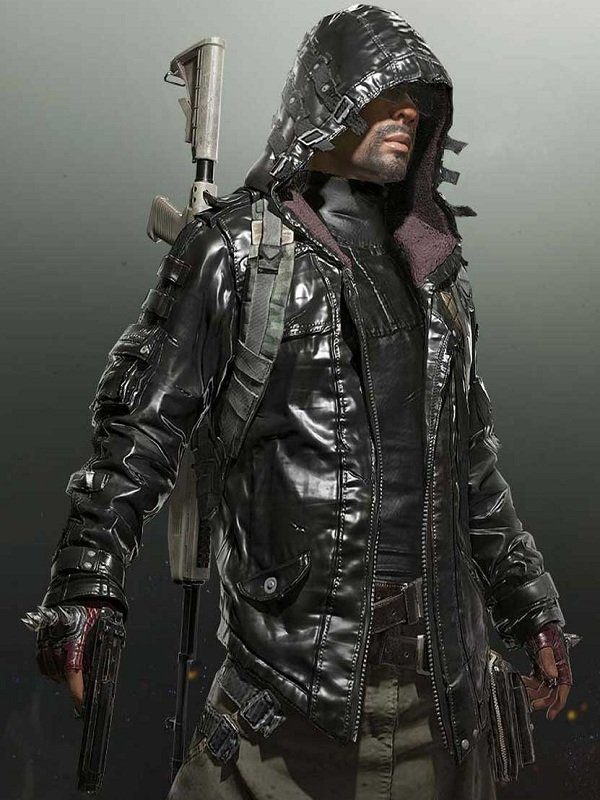 Pubg Battlegrounds Leather Hoodie Jacket