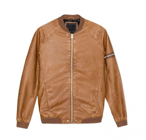 Pulls And Bear Leather Jacket