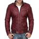 Red Burgundy Leather Jacket
