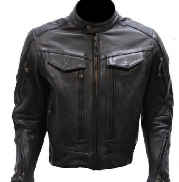 Reflective Leather Jacket