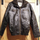 Route 66 Leather Jacket With Hood