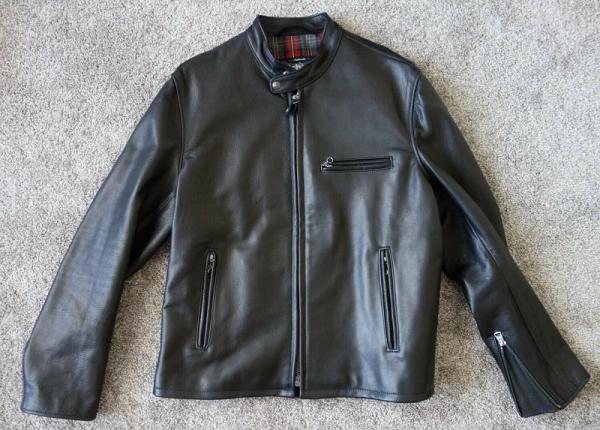 Schott 530 Waxy Black Leather Jacket