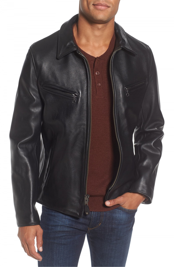 Schott Slim Fit Leather Jacket