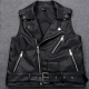 Sleeveless Biker Leather Jacket