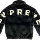 Supreme Faux Fur Bomber Black Jacket