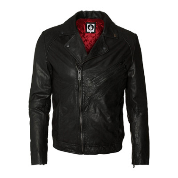 Volcom Leather Jacket Mens