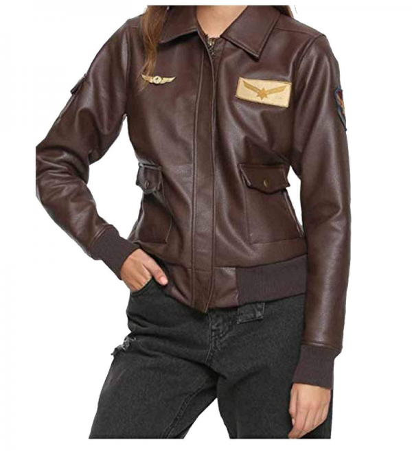 Brie Larson Leather Jacket
