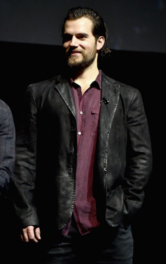 Henry Cavill Black Leather Jacket