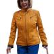 Pelosi Yellow Leather Jacket