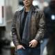 Zac Efron Distressed Leather Jacket