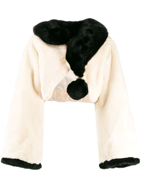 1980's Question Mark Faux Fur Jacket
