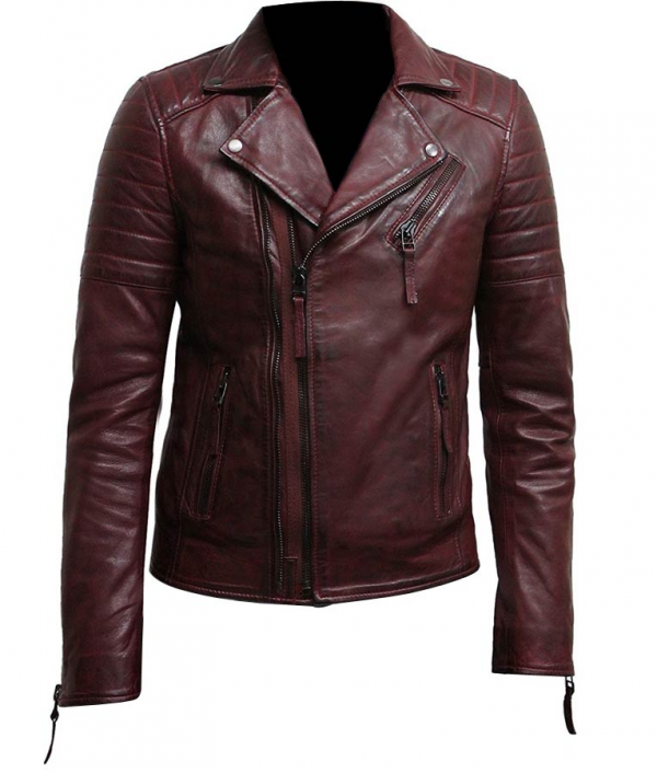 Burgundy Leather Jacket Mens
