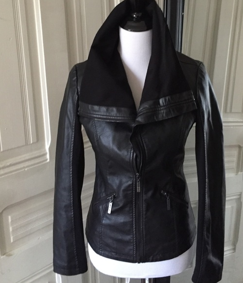 Leather Jacket Popped Collar