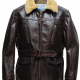 Navy Foul Weather Leather Jacket