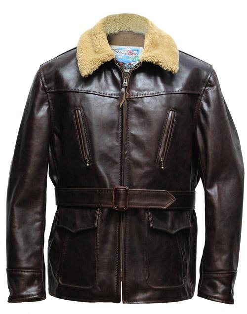 Navy Foul Weather Leather Jacket