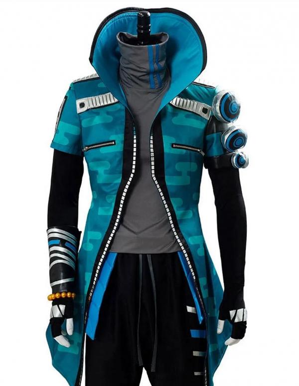 Yasuo Blue Leather Jacket