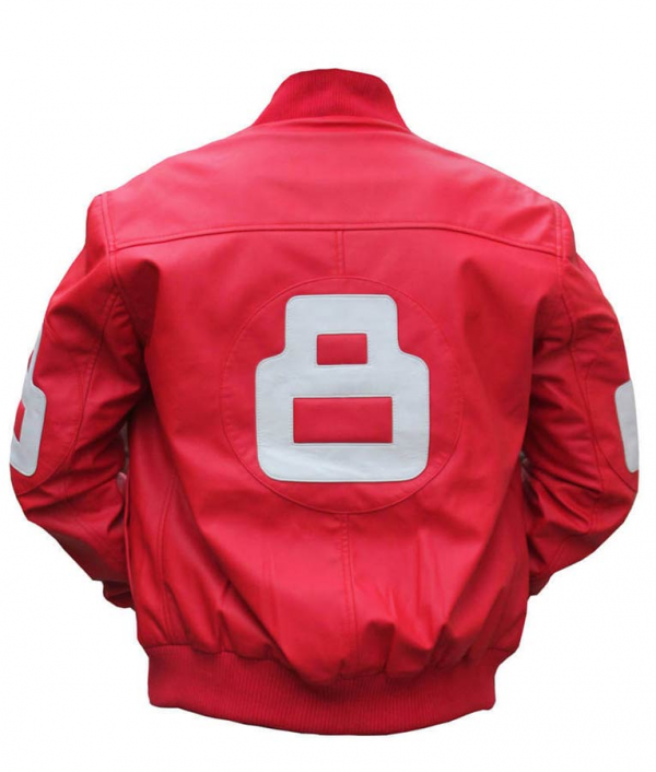 8 Ball Pinks Bomber Leather Jacket