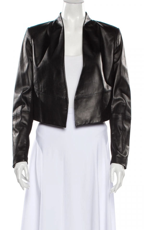 Alice Olivia Lamb Leather Jacket