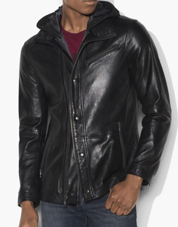 Arrow John Diggle Black Leather Jacket
