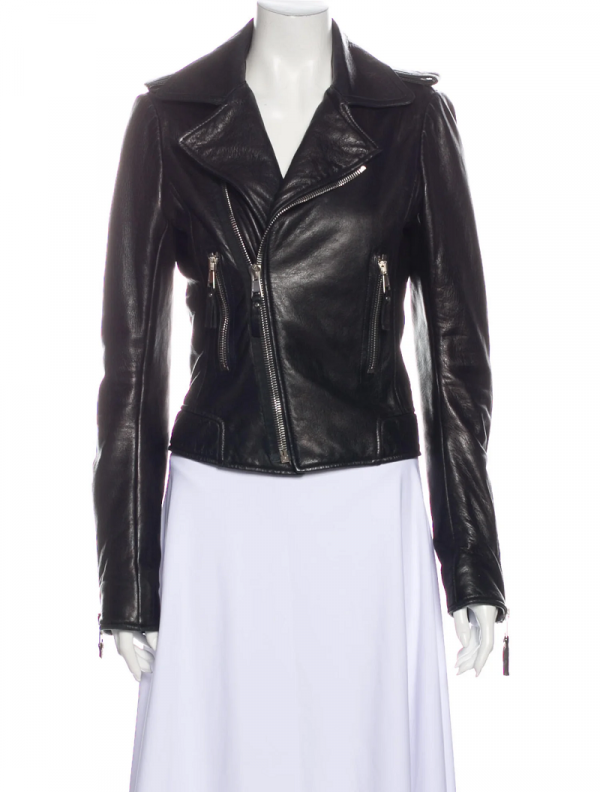 Balenciaga Black Biker Leather Jacket